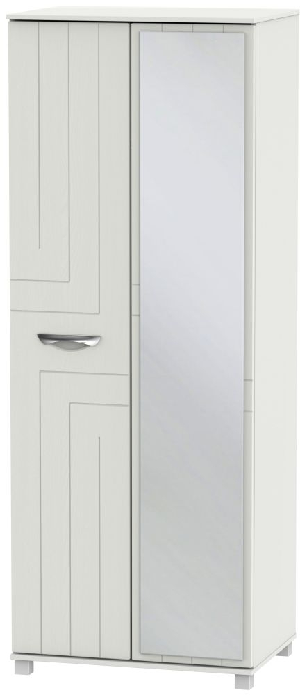 Somerset Light Grey Klein 2 Door Tall Mirror Wardrobe