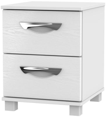 Somerset White Klein 2 Drawer Bedside Cabinet