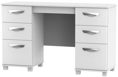 Somerset White Klein Double Pedestal Dressing Table