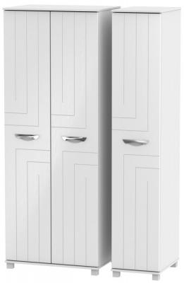 Somerset White Klein 3 Door Tall Wardrobe