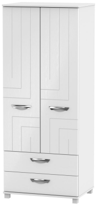 Somerset White Klein 2 Door 2 Drawer Wardrobe