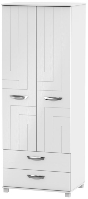 Somerset White Klein 2 Door 2 Drawer Tall Wardrobe