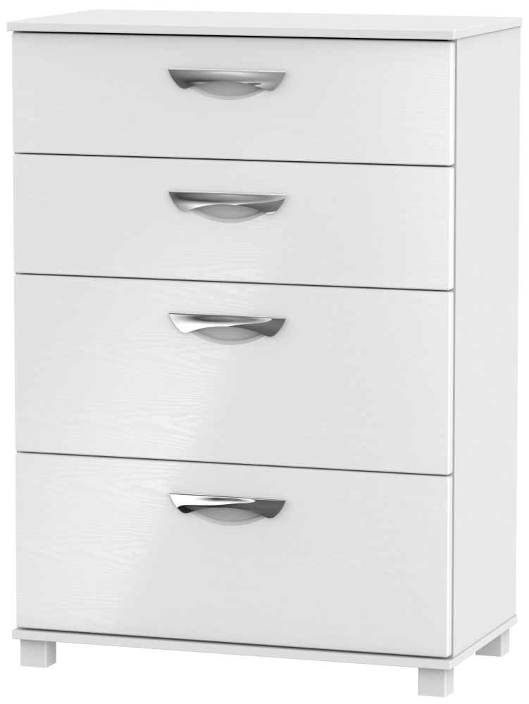 Somerset White Klein Chest of Drawer - 4 Drawer Deep