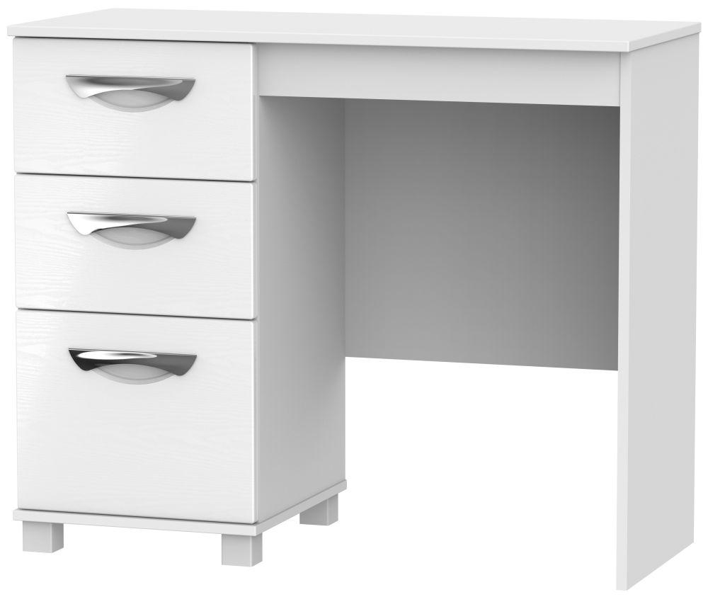 Somerset White Klein Single Pedestal Dressing Table
