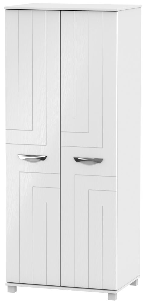 Somerset White Klein Wardrobe - 2ft 6in Plain