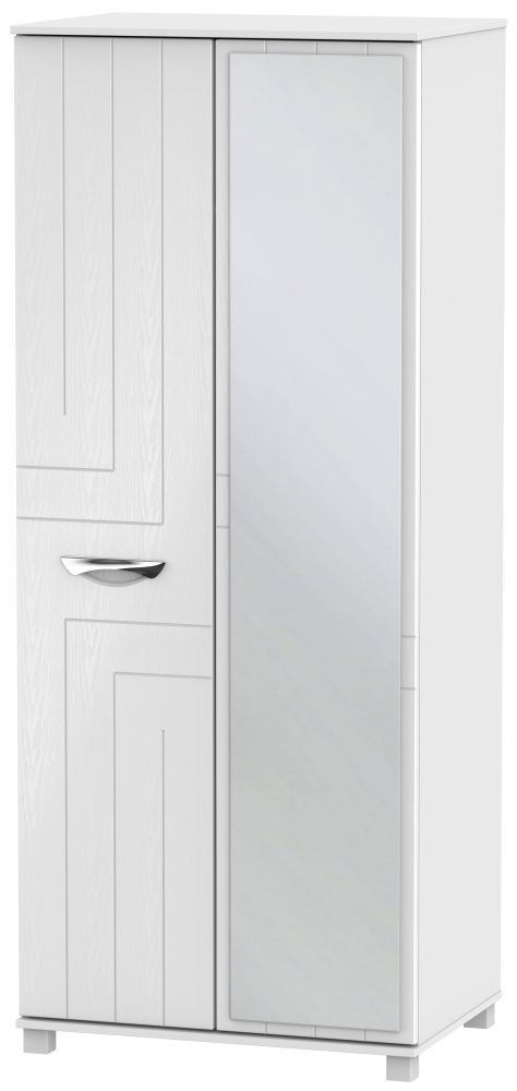 Somerset White Klein 2 Door Mirror Wardrobe