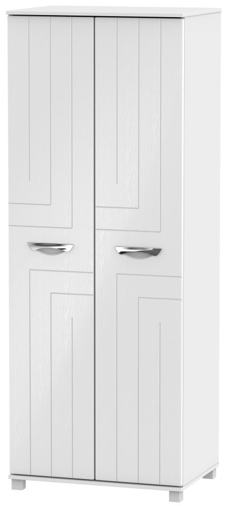 Somerset White Klein Wardrobe - Tall 2ft 6in Plain