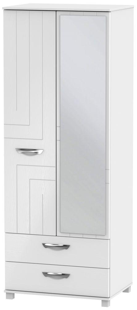 Somerset White Klein 2 Door Combi Wardrobe