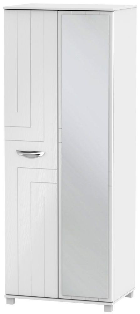 Somerset White Klein 2 Door Tall Mirror Wardrobe