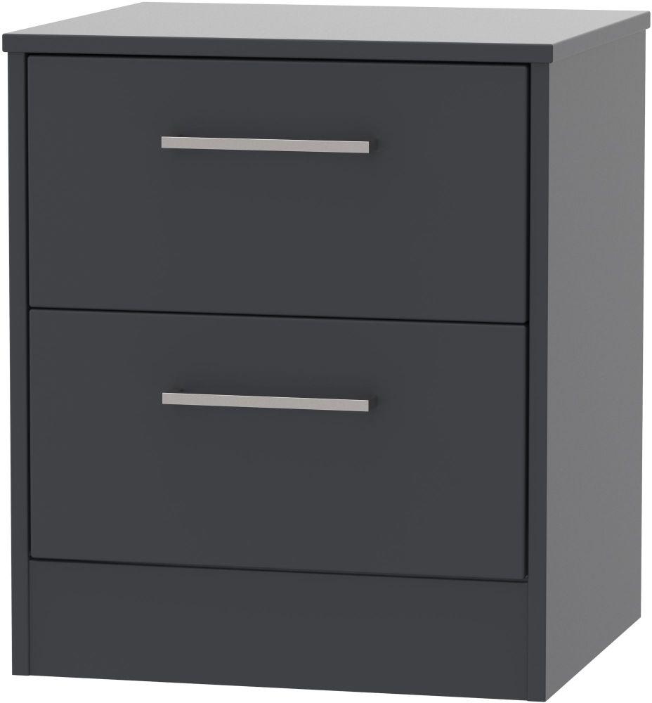 Tokyo Bay Bedside Cabinet - 2 Drawer Locker