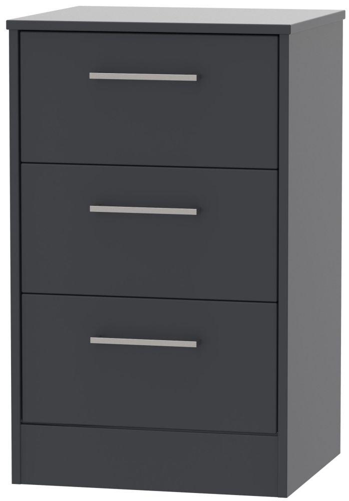 Tokyo Bay Bedside Cabinet - 3 Drawer Locker