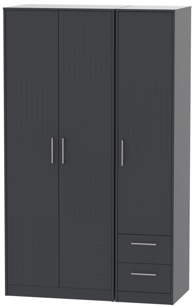 Tokyo Bay Triple Wardrobe - Tall Plain with 2 Drawer