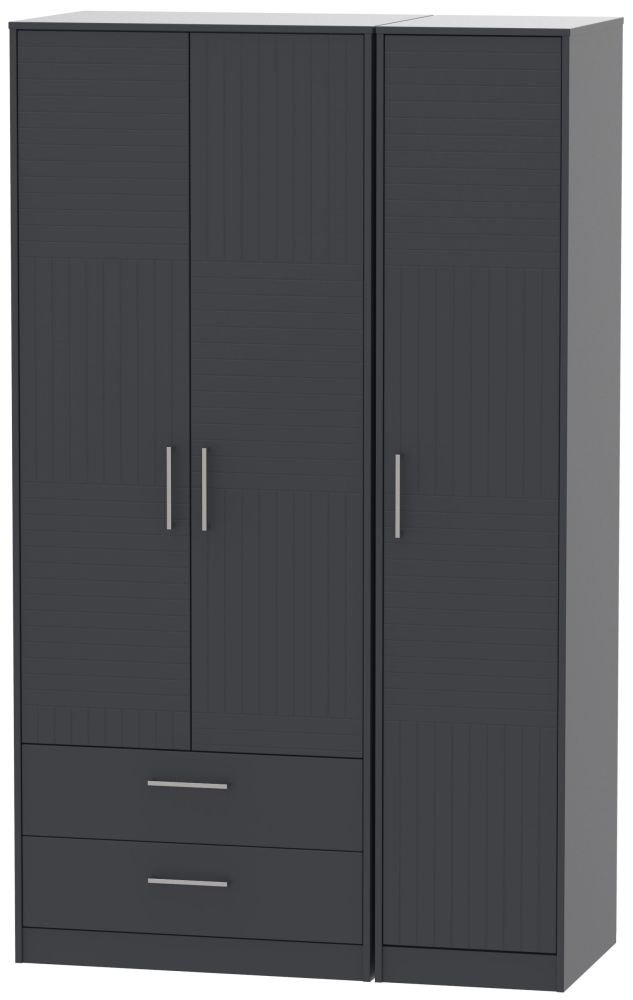 Tokyo Bay Triple Wardrobe - Tall with 2 Drawer