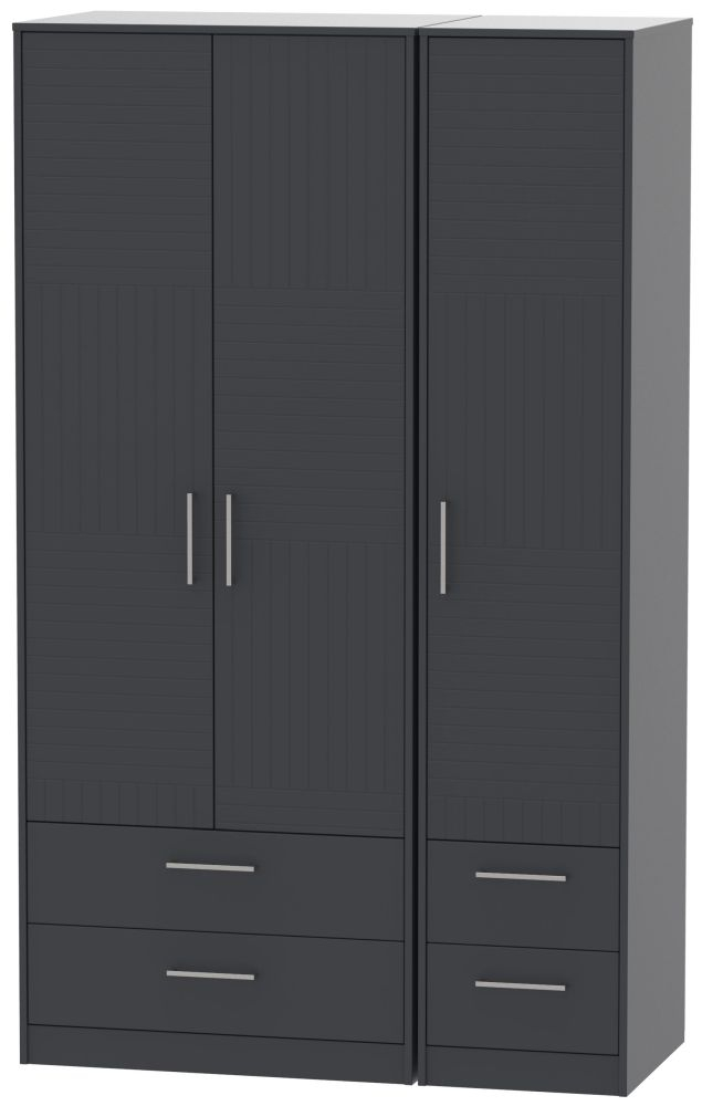 Tokyo Bay Triple Wardrobe - Tall with Drawer