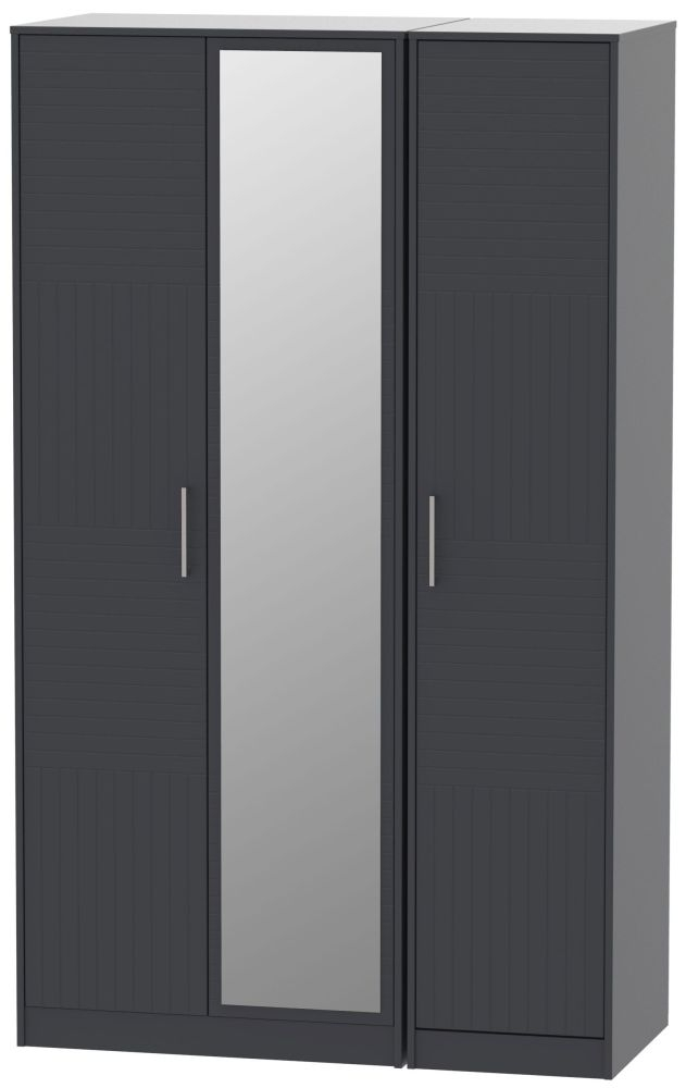Tokyo Bay Triple Wardrobe - Tall with Mirror