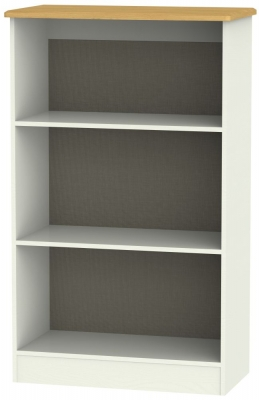 Victoria Cream Ash and Modern Oak Bookcase