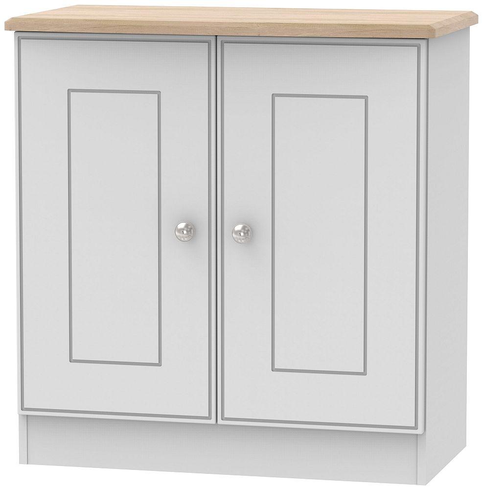 Victoria 2 Door Hall Unit - Grey and Riviera Oak