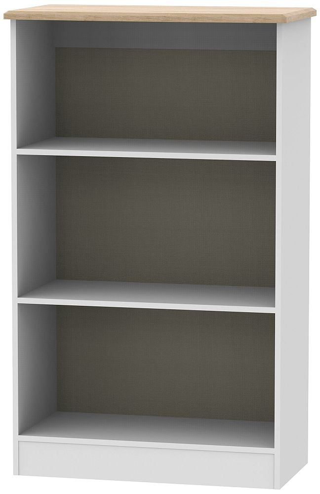 Victoria Bookcase - Grey and Riviera Oak