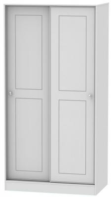Victoria 2 Door Sliding Wardrobe - Grey Matt and Riviera Oak
