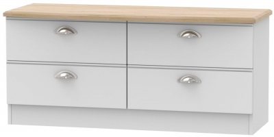 Victoria Grey Matt and Riviera Oak 4 Drawer Bed Box