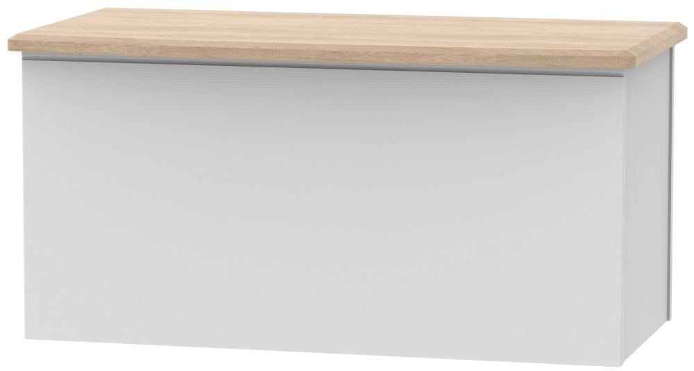 Victoria Blanket Box - Grey Matt and Riviera Oak