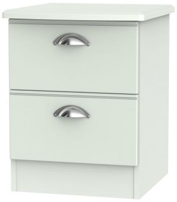 Victoria Grey Matt 2 Drawer Bedside Cabinet