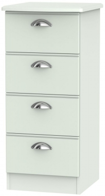 Victoria Grey Matt 4 Drawer Tall Chest