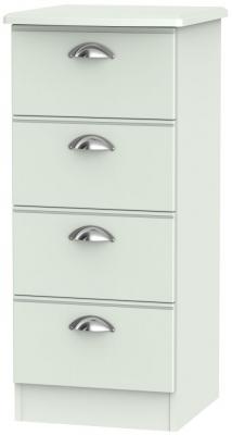 Victoria Grey Matt Chest of Drawer - 4 Drawer Locker
