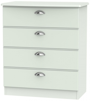 Victoria Grey Matt Chest of Drawer - 4 Drawer