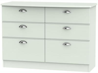 Victoria Grey Matt 6 Drawer Midi Chest