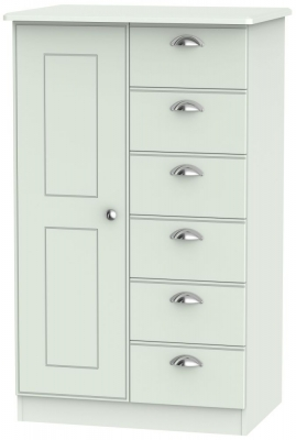 Victoria Grey Matt 1 Door Children Wardrobe