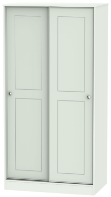 Victoria Grey Matt Sliding Wardrobe - 100cm Wide