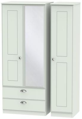 Victoria Grey Matt 3 Door 2 Left Drawer Combi Wardrobe
