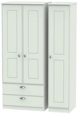 Victoria Grey Matt 3 Door 2 Left Drawer Wardrobe