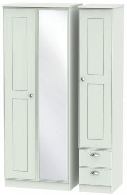 Victoria Grey Matt 3 Door 2 Right Drawer Tall Combi Wardrobe