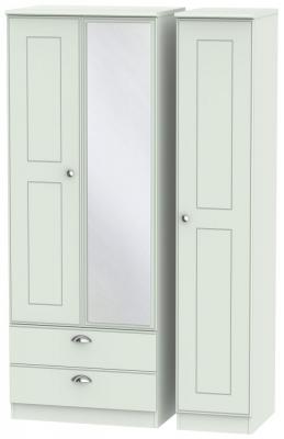 Victoria Grey Matt 3 Door 2 Left Drawer Tall Combi Wardrobe