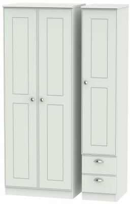 Victoria Grey Matt 3 Door 2 Right Drawer Tall Wardrobe