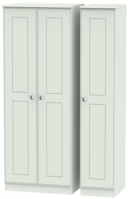 Victoria Grey Matt Triple Wardrobe - Tall Plain