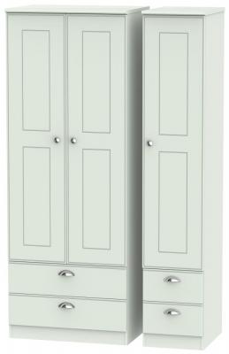 Victoria Grey Matt 3 Door 4 Drawer Tall Wardrobe
