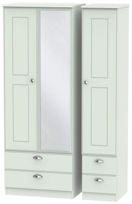 Victoria Grey Matt 3 Door 4 Drawer Tall Combi Wardrobe