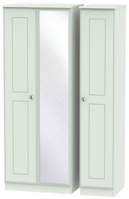 Victoria Grey Matt 3 Door Tall Mirror Wardrobe