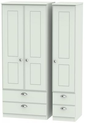 Victoria Grey Matt 3 Door 4 Drawer Wardrobe