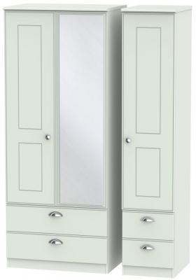 Victoria Grey Matt 3 Door 4 Drawer Combi Wardrobe