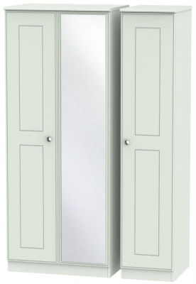 Victoria Grey Matt 3 Door Mirror Wardrobe