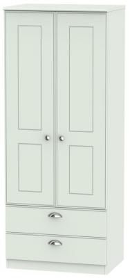 Victoria Grey Matt Wardrobe - 2ft 6in 2 Drawer