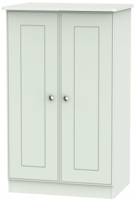 Victoria Grey Matt 2 Door Midi Wardrobe