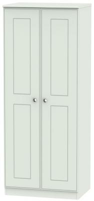 Victoria Grey Matt Wardrobe - 2ft 6in Plain