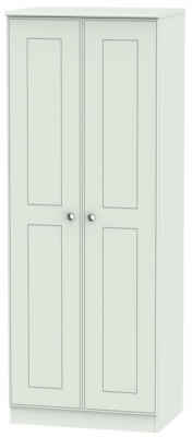 Victoria Grey Matt Wardrobe - Tall 2ft 6in Double Hanging