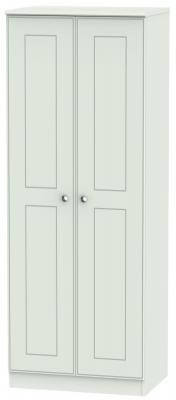 Victoria Grey Matt 2 Door Tall Hanging Wardrobe
