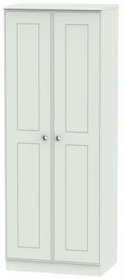 Victoria Grey Matt 2 Door Tall Wardrobe